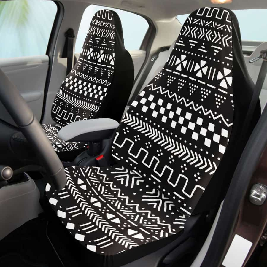 Afrocentric Brown Mud Cloth Car Seat - One size - Car Seat Cover - AOP