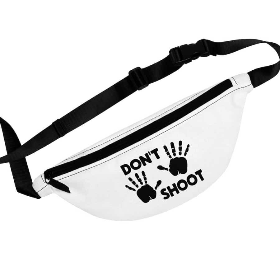 Afrocentric Don't Shoot Black Fanny Pack - One Size - Bags