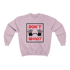 Afrocentric Don't Shoot Red Crewneck Sweatshirt - Light Pink / S - Sweatshirt