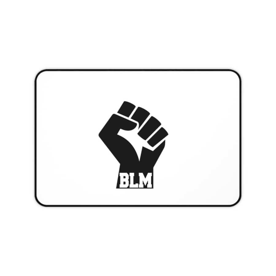 Afrocentric Fist Bottom BLM Desk Mat - 12x22 - Home Decor