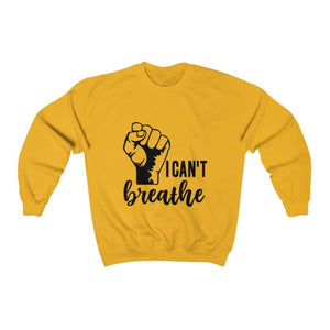 Afrocentric I Can't Breathe Crewneck Sweatshirt - Gold / S - Sweatshirt