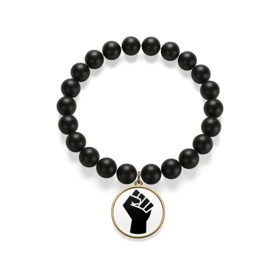 Black Power Matte Onyx Bracelet - indigocoin / Golden - Accessories