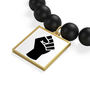 Black Power Matte Onyx Bracelet - Accessories