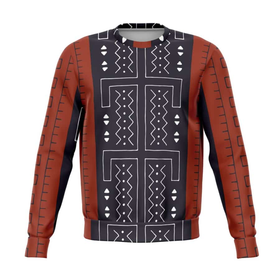 Bogolan Afrocentric Sweatshirt - S - Athletic Sweatshirt - AOP