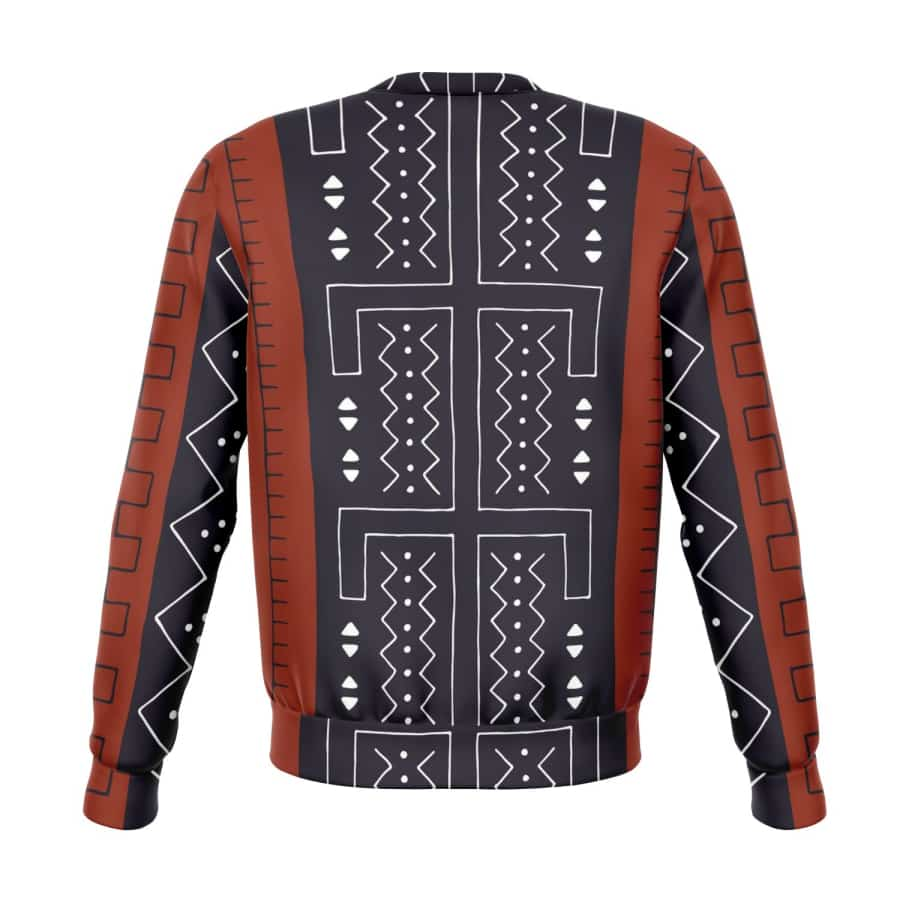 Bogolan Afrocentric Sweatshirt - M - Athletic Sweatshirt - AOP