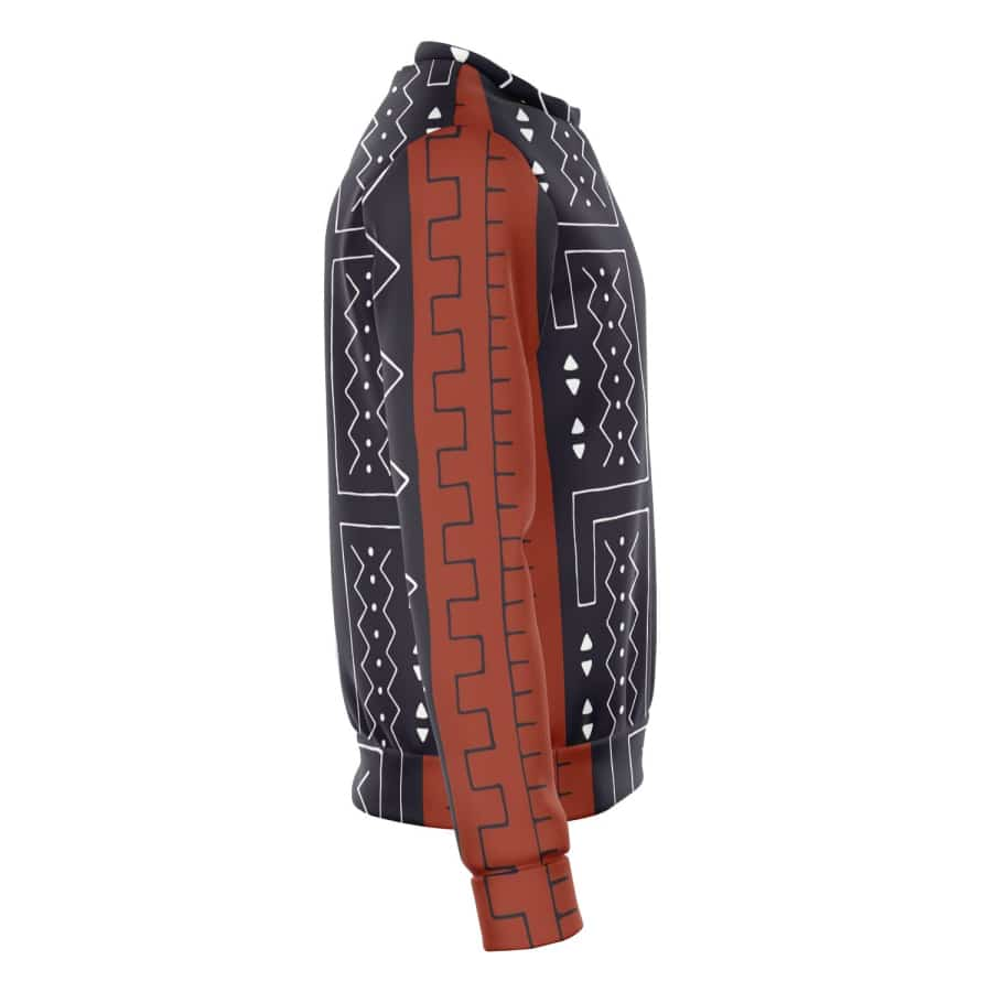 Bogolan Afrocentric Sweatshirt - Athletic Sweatshirt - AOP
