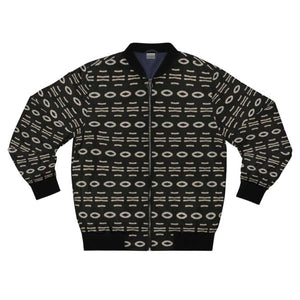 Bogolan B W Cauris Men's AOP Bomber Jacket - XL - All Over Prints
