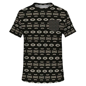 Bogolan B W Cauris Pocket T-shirt - XS - Pocket T-shirt - AOP