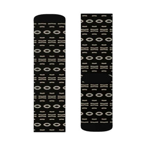 Bogolan B W Cauris Sublimation Socks - All Over Prints