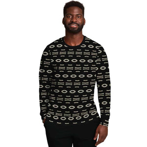 Bogolan B W Cauris Sweatshirt - Athletic Sweatshirt - AOP