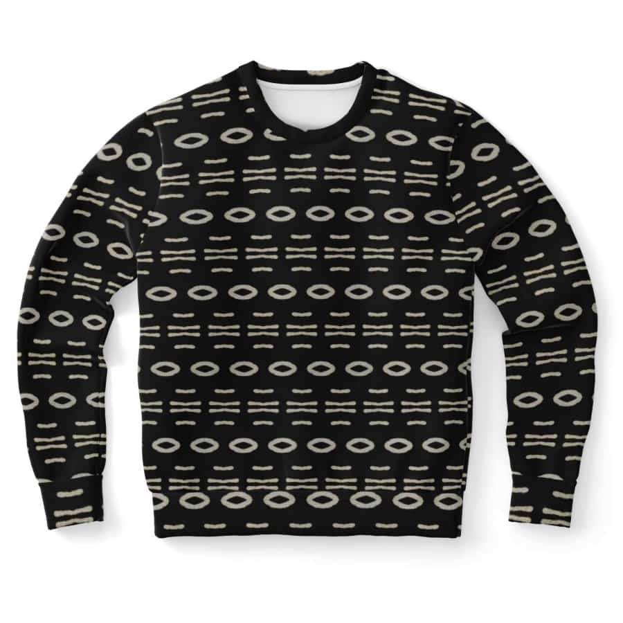 Bogolan B W Cauris Sweatshirt - S - Athletic Sweatshirt - AOP