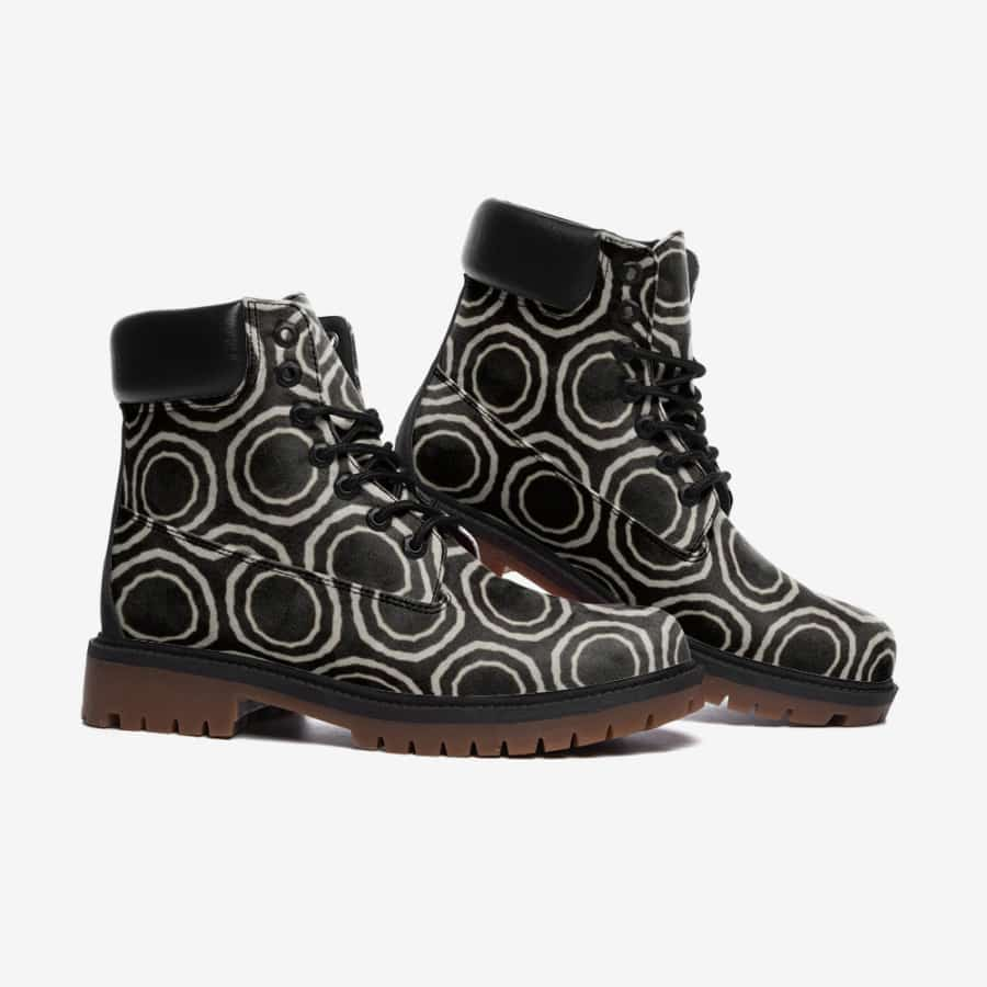 Bogolan B W Circle Leather Lightweight boots TB - Men's Shoes
