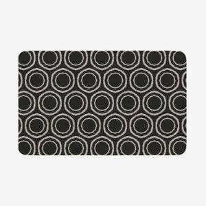 Bogolan B W Circle Microfiber Chevron Non-Slip Soft Kitchen Mat Bath Rug Doormat - 18'' x 30'' - Blanket