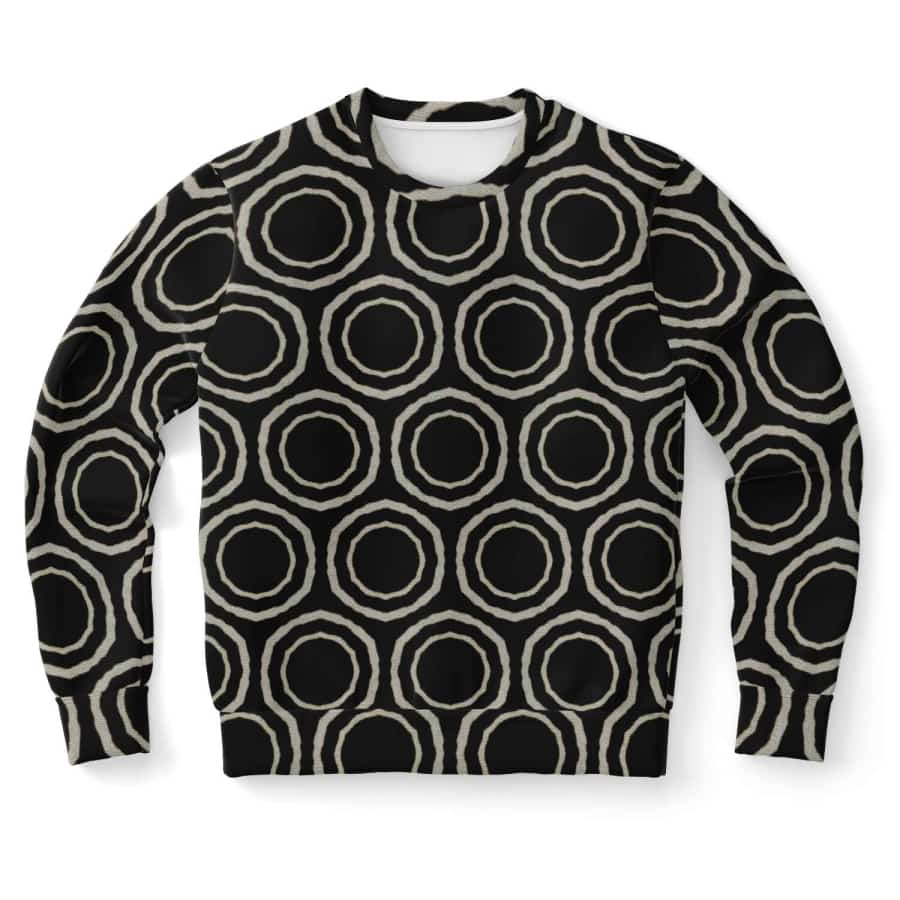 Bogolan B W Circle Sweatshirt - XS - Athletic Sweatshirt - AOP