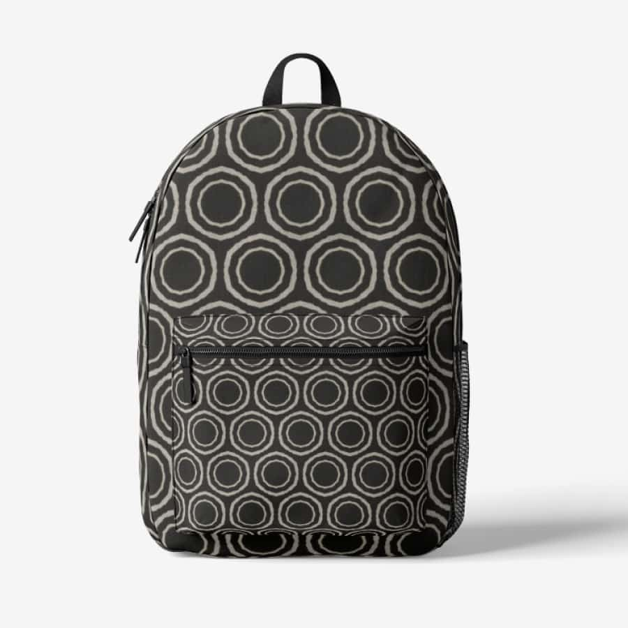 Bogolan B W Circle Trendy Backpack - Black - Bags