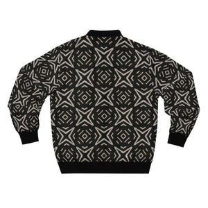 Bogolan B W Star Men's AOP Bomber Jacket - All Over Prints