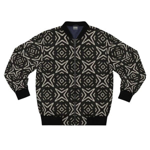 Bogolan B W Star Men's AOP Bomber Jacket - XL - All Over Prints
