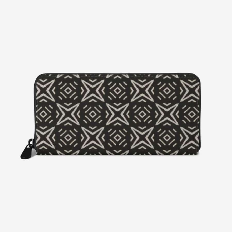 Bogolan B W Star premium PU Leather Wallet - White - Wallet