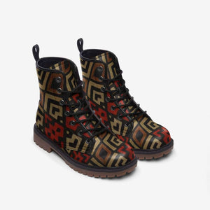 Bogolan Mystic Red Leather Lightweight boots MT - Men's Shoes