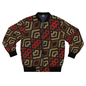 Bogolan Mystic Red Men's AOP Bomber Jacket - XL - All Over Prints