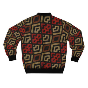 Bogolan Mystic Red Men's AOP Bomber Jacket - All Over Prints
