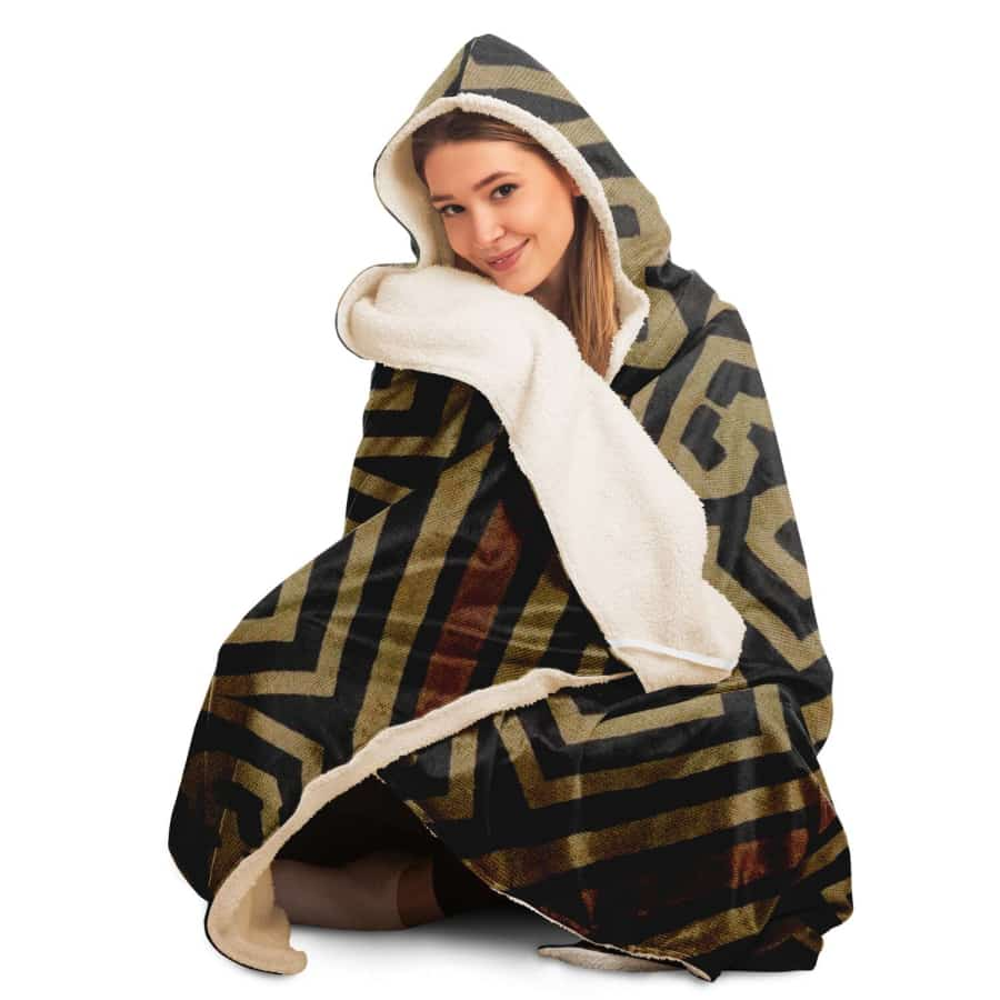 Bogolanfini Hooded Blanket - Hooded Blanket - AOP