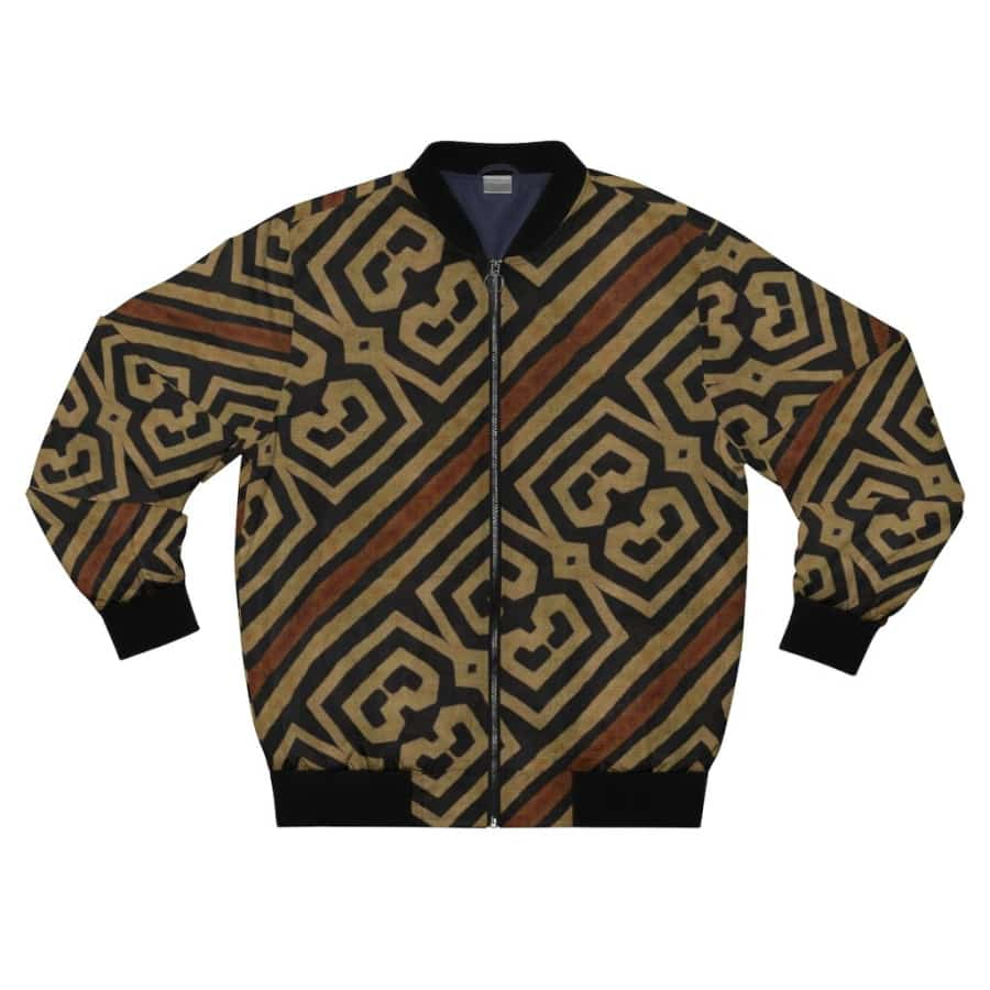 Bogolanfini Men's AOP Bomber Jacket - XL - All Over Prints