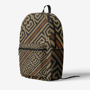 Bogolanfini Trendy Backpack - Black - Backpack