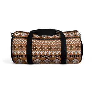 Brown African Mud cloth Duffel Bag - Small - Bags