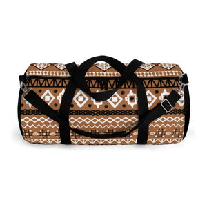 Brown African Mud cloth Duffel Bag - Bags