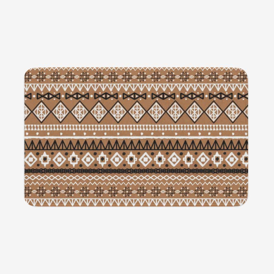 Brown African Mud cloth Kitchen and Doormat Mat - 18'' x 30'' - Blanket