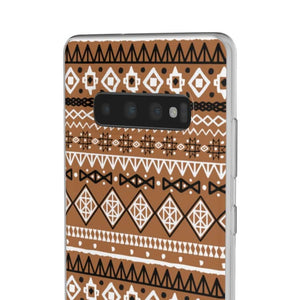 Brown African Tribal Flexi Cases - Phone Case