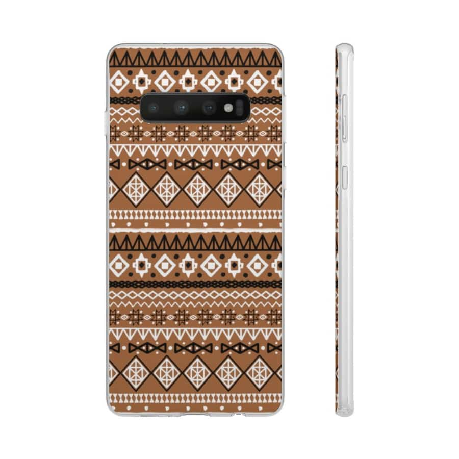 Brown African Tribal Flexi Cases - Samsung Galaxy S10 - Phone Case