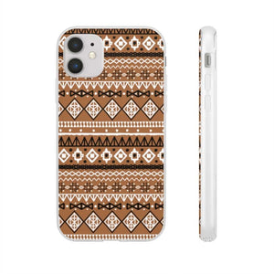 Brown African Tribal Flexi Cases - iPhone 11 - Phone Case