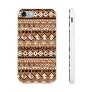 Brown African Tribal Flexi Cases - iPhone 7 - Phone Case
