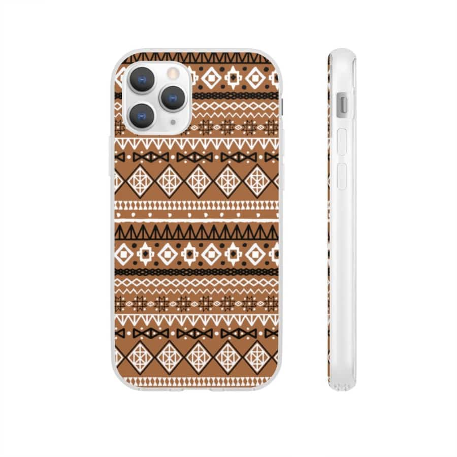 Brown African Tribal Flexi Cases - iPhone 11 Pro - Phone Case