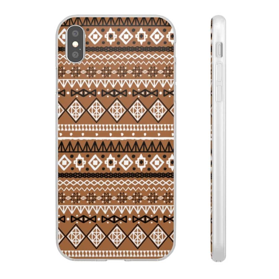 Brown African Tribal Flexi Cases - iPhone XS MAX - Phone Case