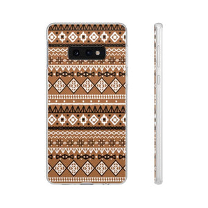 Brown African Tribal Flexi Cases - Samsung Galaxy S10E - Phone Case