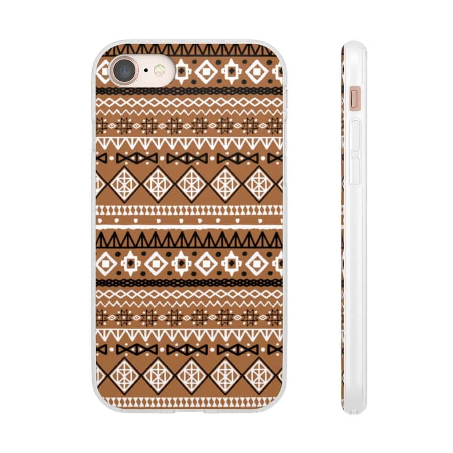 Brown African Tribal Flexi Cases - iPhone 8 - Phone Case