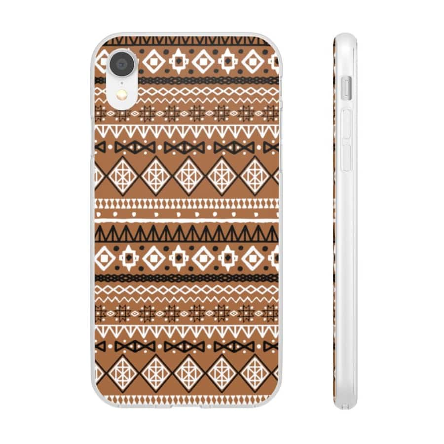 Brown African Tribal Flexi Cases - iPhone XR - Phone Case