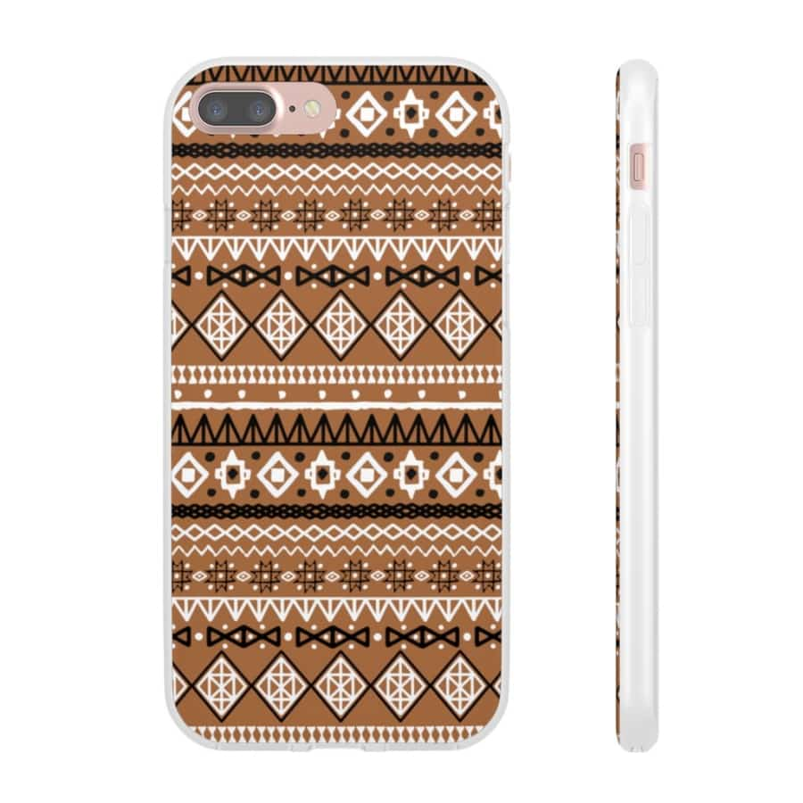Brown African Tribal Flexi Cases - iPhone 7 Plus - Phone Case