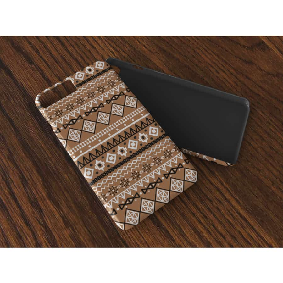 Brown African Tribal Flexi Cases - iPhone X - Phone Case