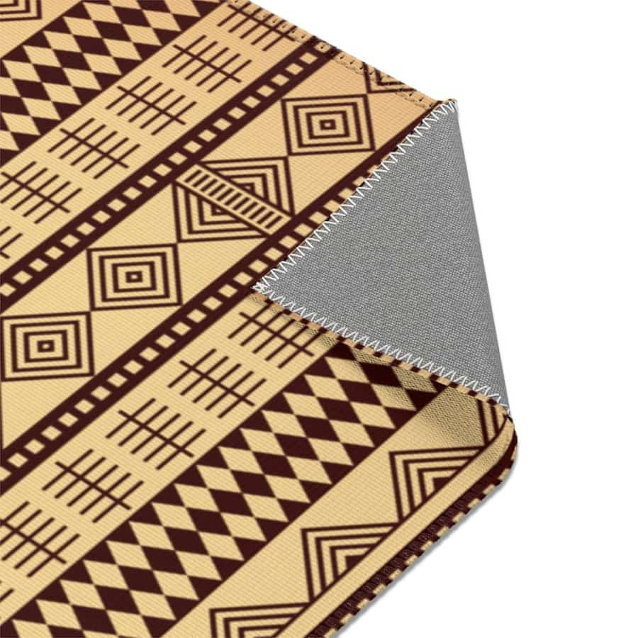 Brown Afrocentric Area Rugs - 24 x 36 - Home Decor
