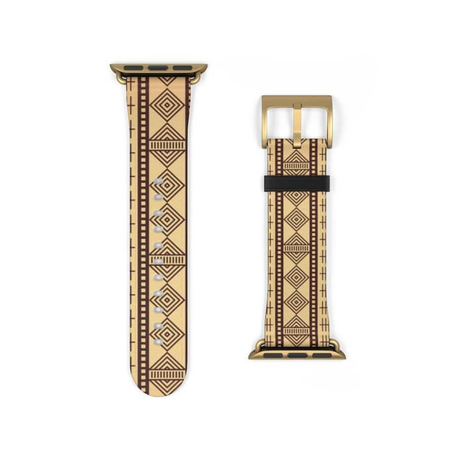 Brown Afrocentric Watch Band - Accessories
