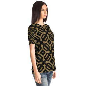 Brown Black Bogolan Pocket T-shirt - Pocket T-shirt - AOP