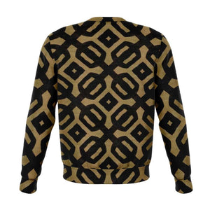 Brown Black Bogolan Sweatshirt - Athletic Sweatshirt - AOP