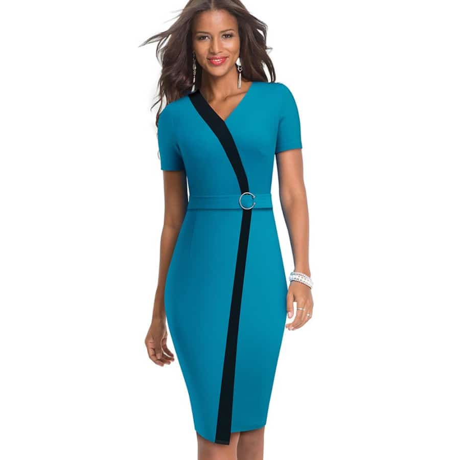 Business party dress - Blue / S - Women's