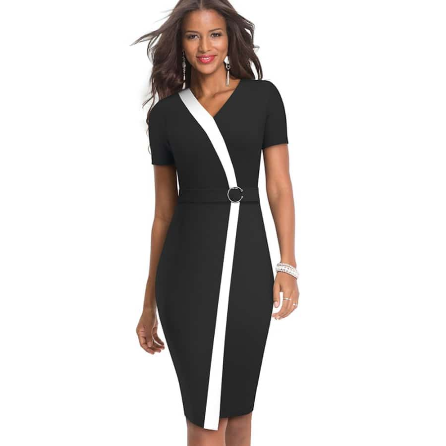 Business party dress - Black / M - Women's