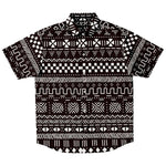 Afrocentric Short Sleeve Button Down Shirt - S - Short Sleeve Button Down Shirt - AOP
