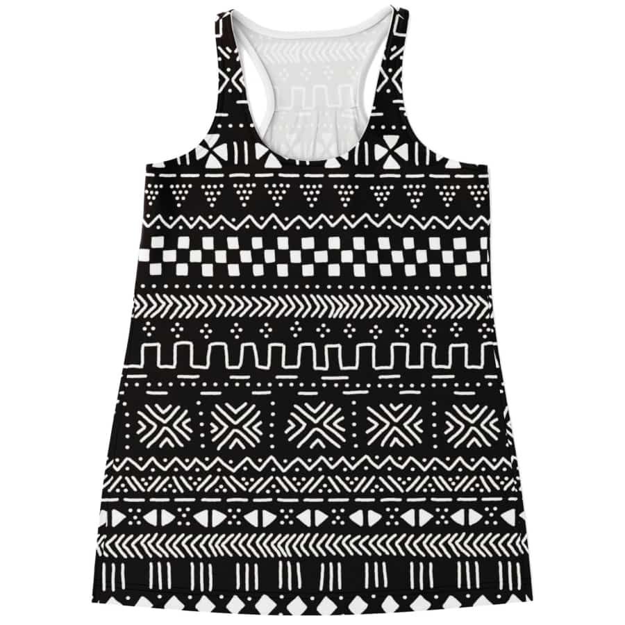 Tribal African Muth cloth Racerback Tank - S - Women's